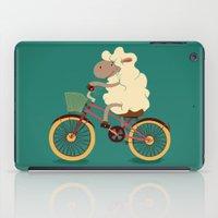 Lamb on the bike iPad Case