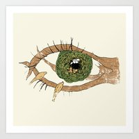 The Eye Of The Bird Art Print