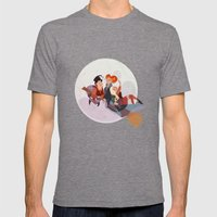 A Spell Mens Fitted Tee Tri-Grey SMALL