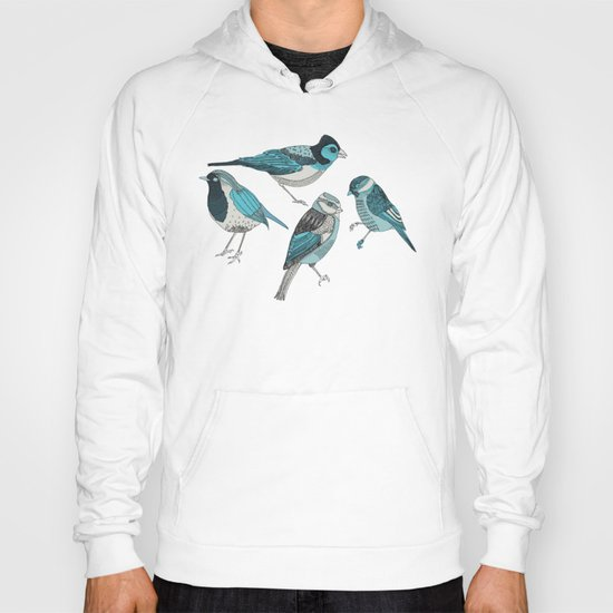 pale green birds Hoody