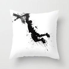 Basketball Player Dunkin… Throw Pillow