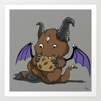 Cookie Nomster Art Print