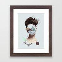 Woman Collage Framed Art Print