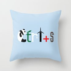 Ctrl + S Throw Pillow