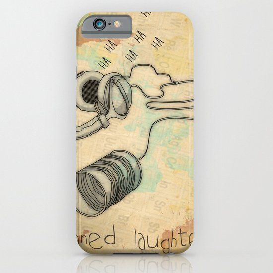 canned laughter _ head phones iPhone & iPod Case