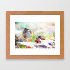 Glitch Mountain Framed Art Print