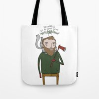 No Worries Woodsman Tote Bag