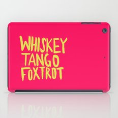 Whiskey Tango Foxtrot - Color Edition iPad Case