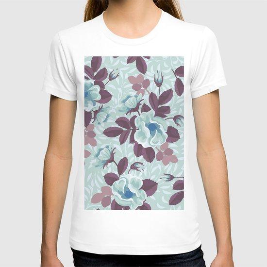 Retro Floral Pattern T-shirt