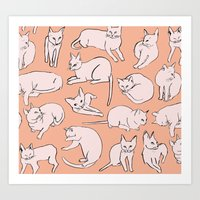 Picasso Cats Art Print