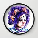 Dolls in her hair, Forest of Dolls Collection Wall Clock
