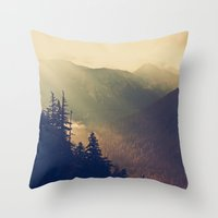 Sunrise Over The Mountia… Throw Pillow