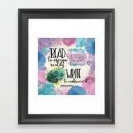 Write To Embrace Design Framed Art Print