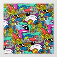 Brain Dump Canvas Print