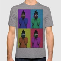 The Warhol Affect Mens Fitted Tee Athletic Grey SMALL