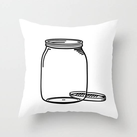 The Empty Jar Throw Pillow