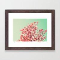 Pink Tree Top Framed Art Print