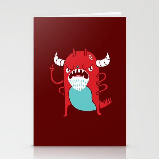 Monster Nagging Stationery Card