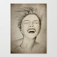 laughing girl Canvas Print