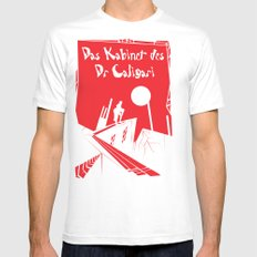 Das Kabinett Des Dr Caligari Mens Fitted Tee SMALL White