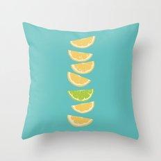 Citrus Tip - Turquoise Throw Pillow