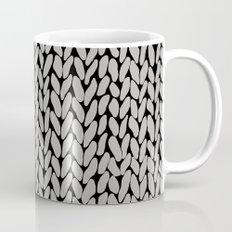 Grey Knit With White Stripe Mug