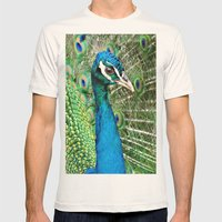 Peacock Mens Fitted Tee Natural SMALL