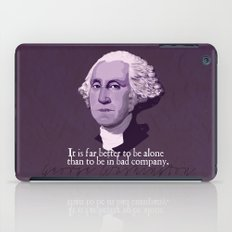 It Is Far Better To Be Alone iPad Case