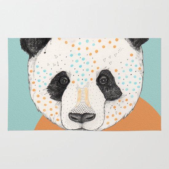 Polkadot Panda Area & Throw Rug