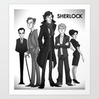 sherlock Art Prints featuring Sherlock by Anna Rettberg
