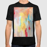 Abstract Study Mens Fitted Tee Tri-Black SMALL