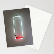 Low Battery Stationery Cards