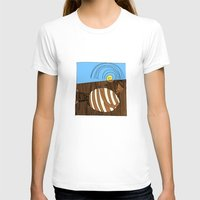 Gluttony Womens Fitted Tee White SMALL