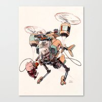 Aerobatic Support Piggie Copter Canvas Print
