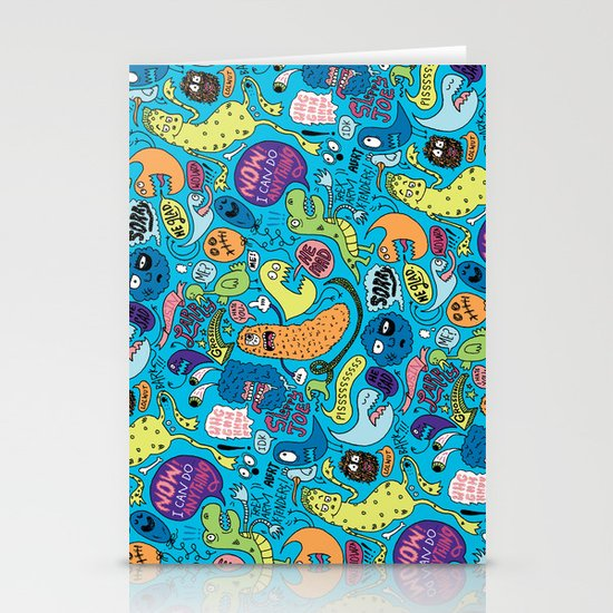 Gettin' Loose Pattern Stationery Card