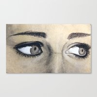 Charcoal drawing Canvas Print