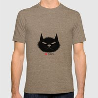 PERSONALITY OF A CAT Mens Fitted Tee Tri-Coffee SMALL