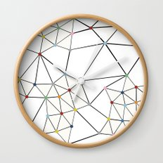 Seg with Color Spots White Wall Clock