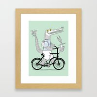 The Crococycle Framed Art Print