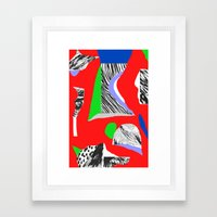 Mountain expedition Framed Art Print