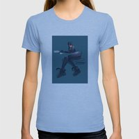 CATWOMAN Womens Fitted Tee Athletic Blue SMALL