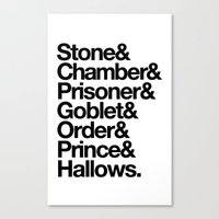 Stone & Chamber & Prisoner & Goblet & Order & Prince & Hallows Canvas Print
