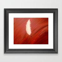 Blood, Feather & Fate Framed Art Print