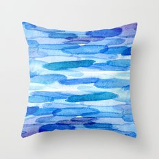 Water shapes Throw Pillow