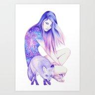 Art Print featuring Galaxy Wanderer by Andrea Hrnjak