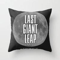 Last Giant Leap Throw Pillow