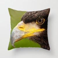Intense Gaze Of A Golden… Throw Pillow