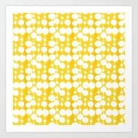 Big Fat Drops (yellow) Art Print