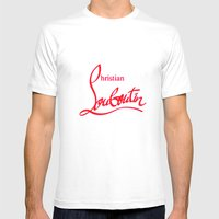 Louboutin Mens Fitted Tee White SMALL