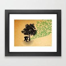 Trees Cry Butterflies Framed Art Print